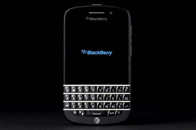 BlackBerry Q10 review front on