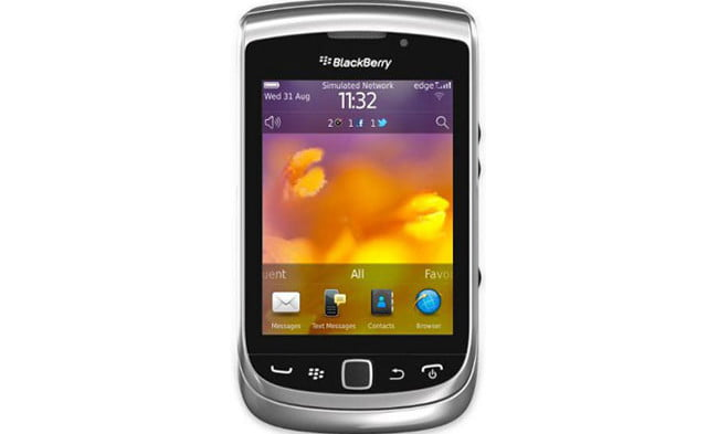 blackberry torch  review front