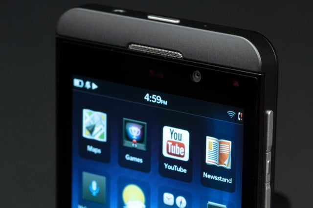 blackberry z  and q smartphones rumored front