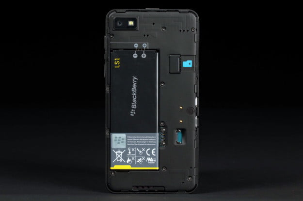 BlackBerry Z10 review: Rear Battery