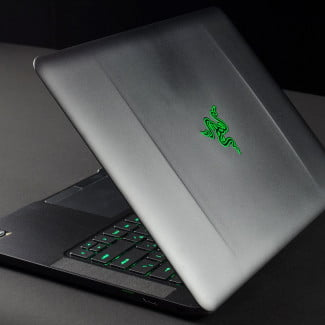Blade laptop review back open angle