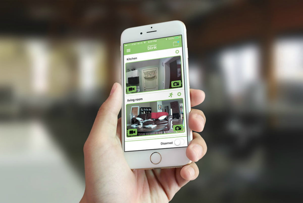 blink home security products service plan ces  app on smartphone