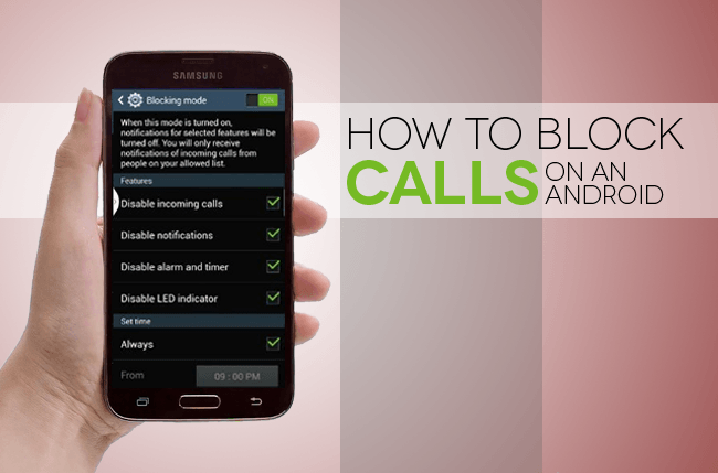 Block cell phone cameras - how to block a call from cell phone