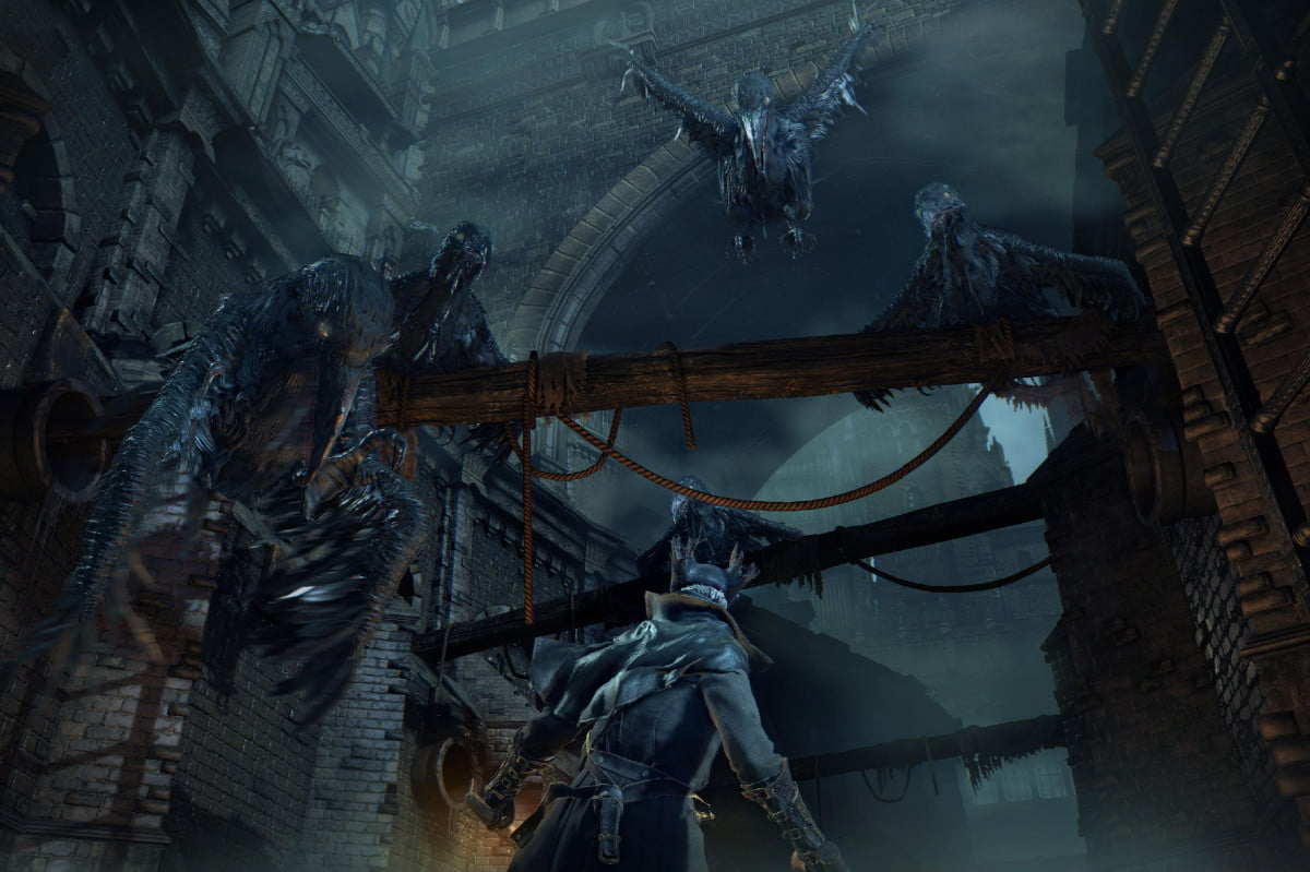 watch six gory minutes bloodborne action crow