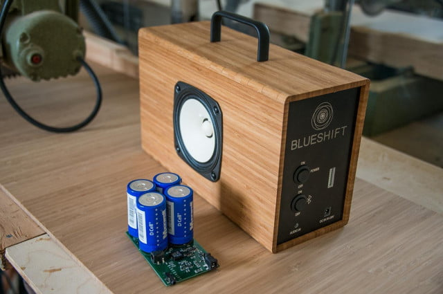 Blueshift Helium Bamboo Supercapacitor Powered Speaker