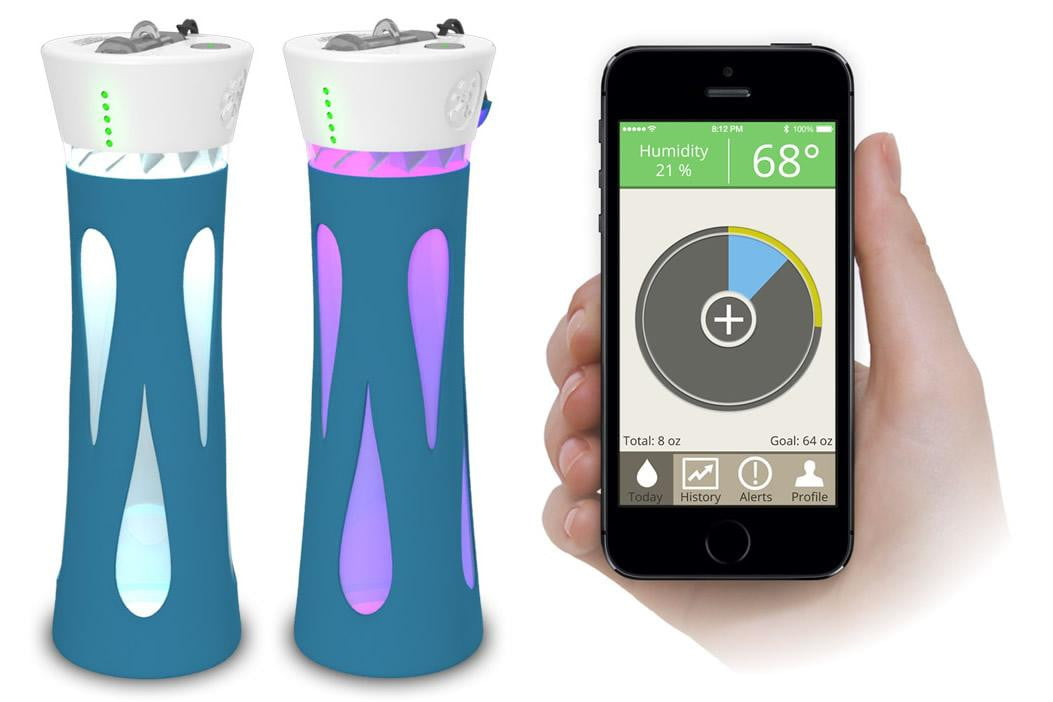 BluFit Water Bottle and mobile application
