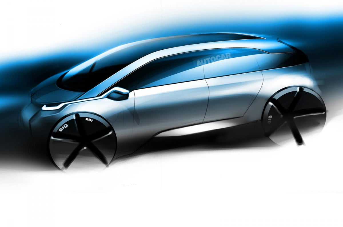 bmw may planning hydrogen fueled i  technology toyotas mirai fcv rendering