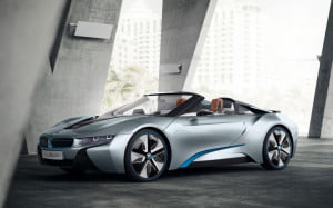 BMW i8 Concept Spyder front three-quarter