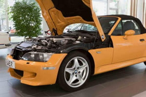 BMW Z3 roadster V12 side view