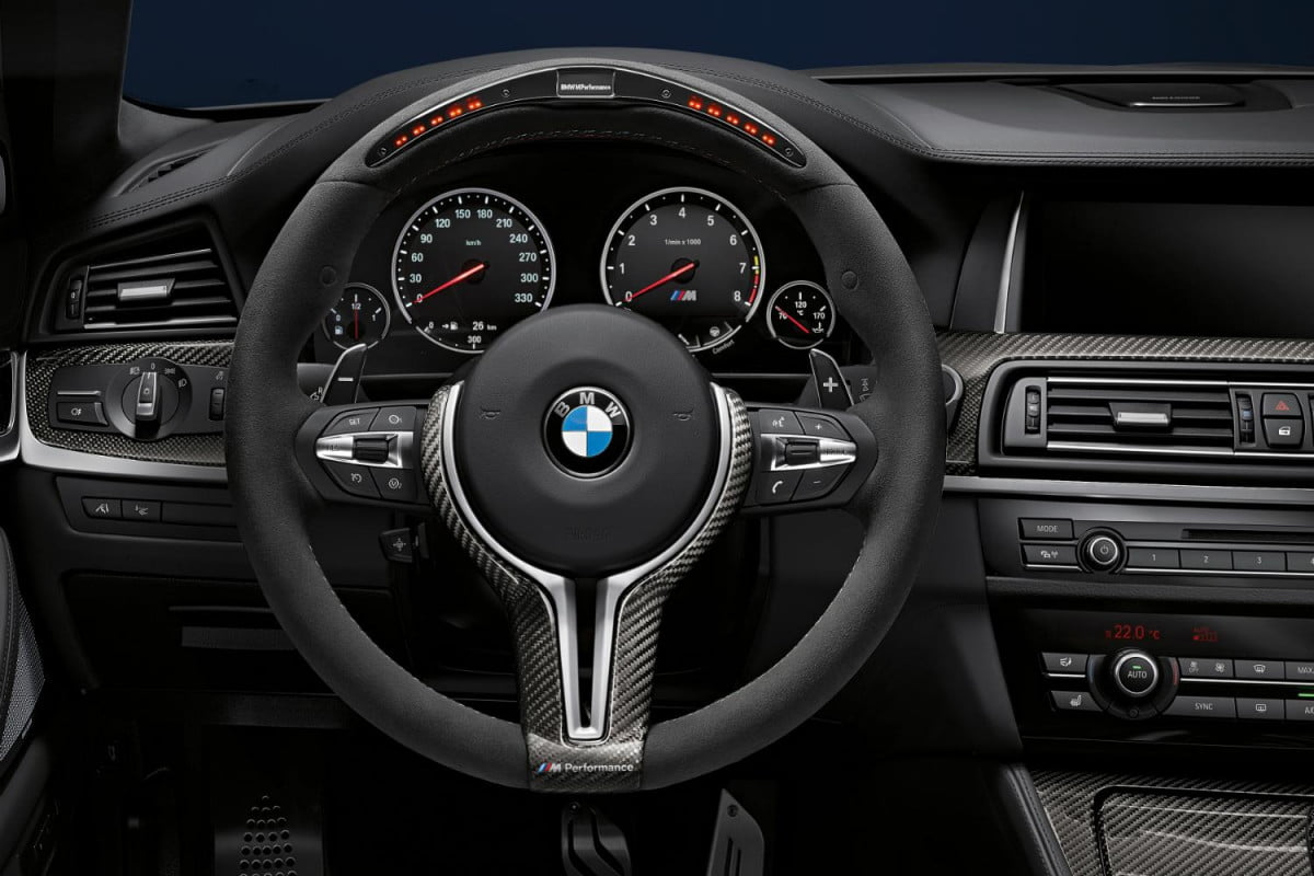 bmw tries get back wallet new line m performance parts sport steering wheel
