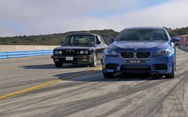 BMW M5 first and current generations