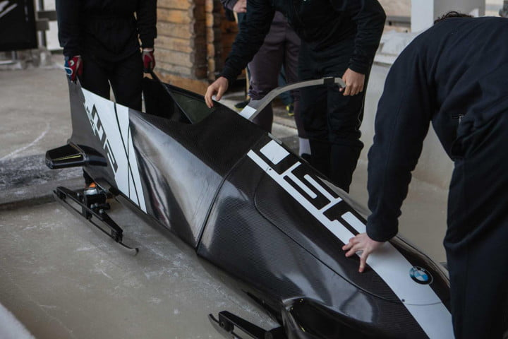 bobsled sochi steven holcomb and justin olsen test bmws second two man prototype