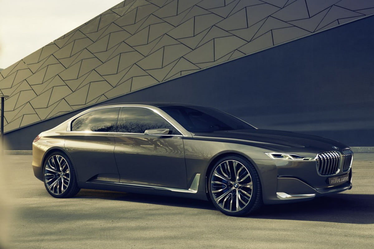 bmw working on  series four door coupe flagship and i ev sedan for debuts vision future luxury concept widescreen