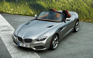 BMW Zagato Roadster front overhead view
