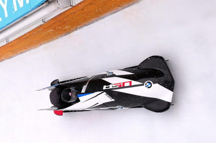 BMWs two_man bobsled racing at the Utah Olympic Park