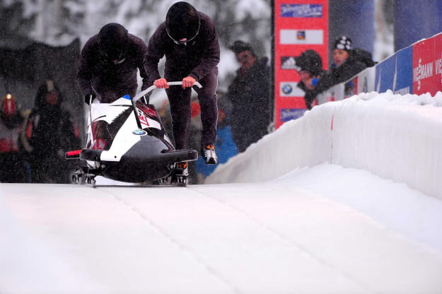 BMWs two_man bobsled undergoes testing at the Utah Olympic Park