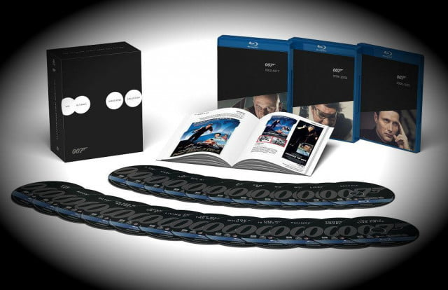 james bond collectibles blu ray dvds set