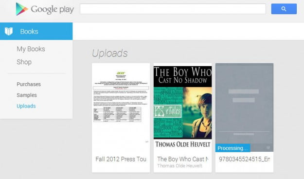 Google Play Books - Upload Desktop