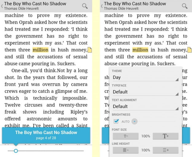 Google Play Books Android App Inside Book