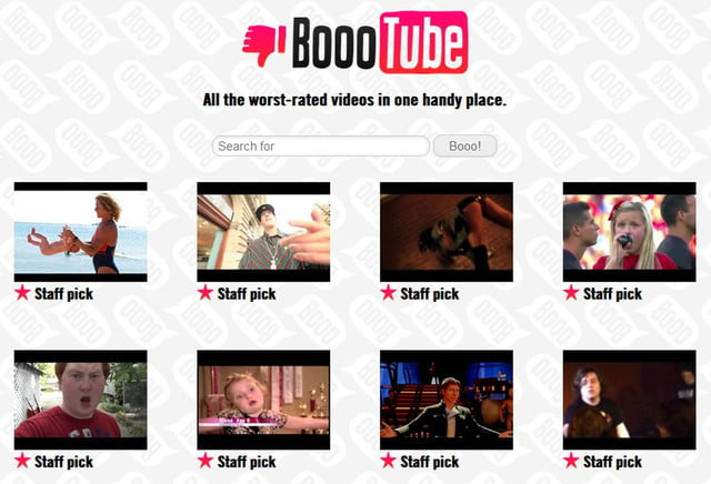 boootube highlights the worst videos on internet and we love it