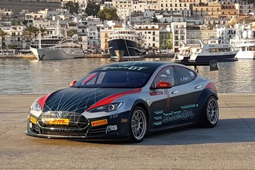 tesla model s electric gt race car details specs. Black Bedroom Furniture Sets. Home Design Ideas