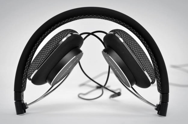 Bowers Wilkins P3 Review headphones folded over the ear