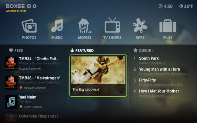 Boxee Interface