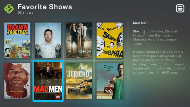 Boxee TV Shows