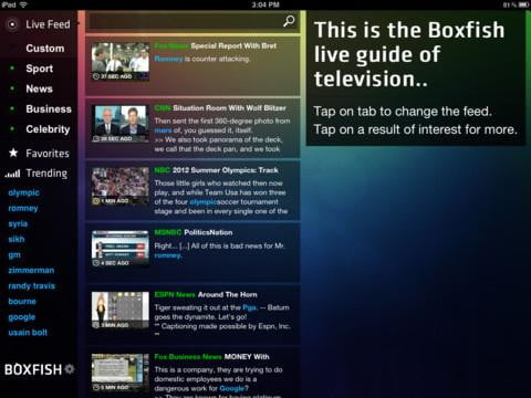 boxfish screenshot live tv streaming app