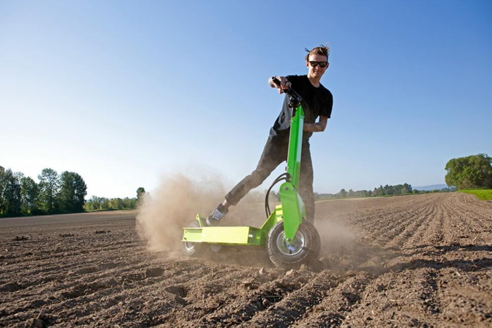 brad baker works electric rover in action