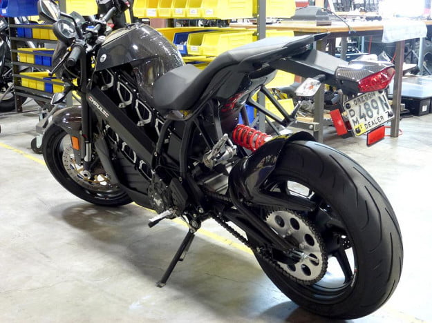 Brammo Empulse electric motorcycle preview bike left side back electric vehicle