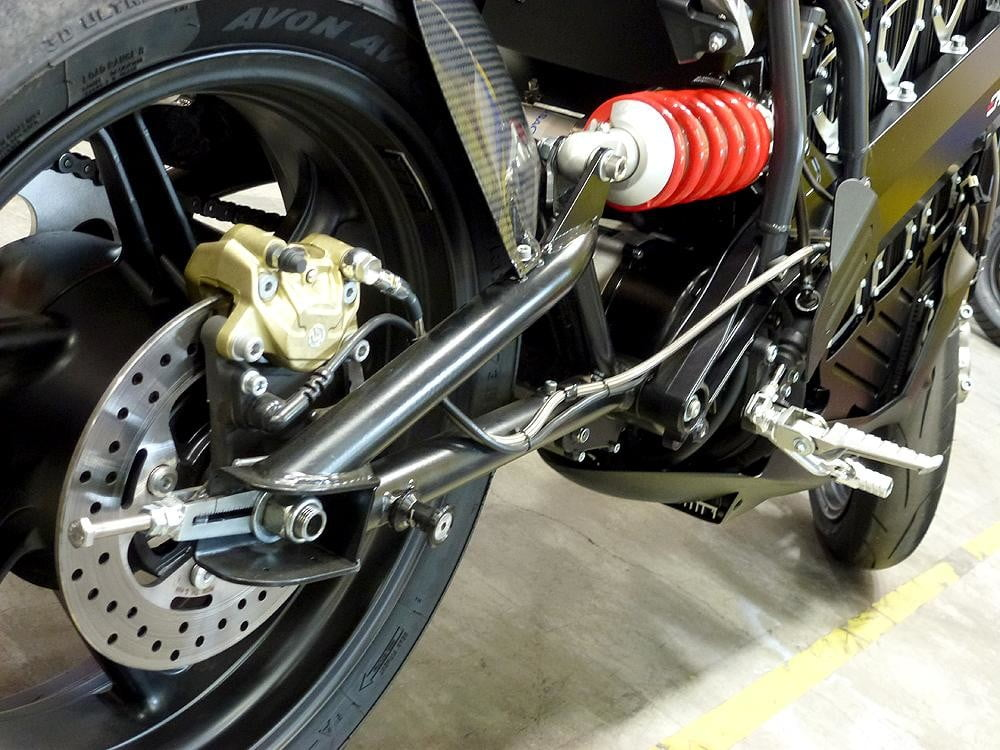 Brammo Empulse electric motorcycle preview front side wheel closeup engine