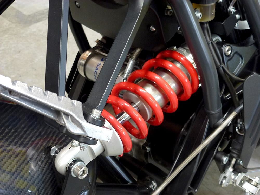 Brammo Empulse electric motorcycle preview piston closeup engine