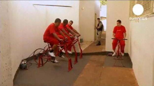 Brazilian prisoners cycling