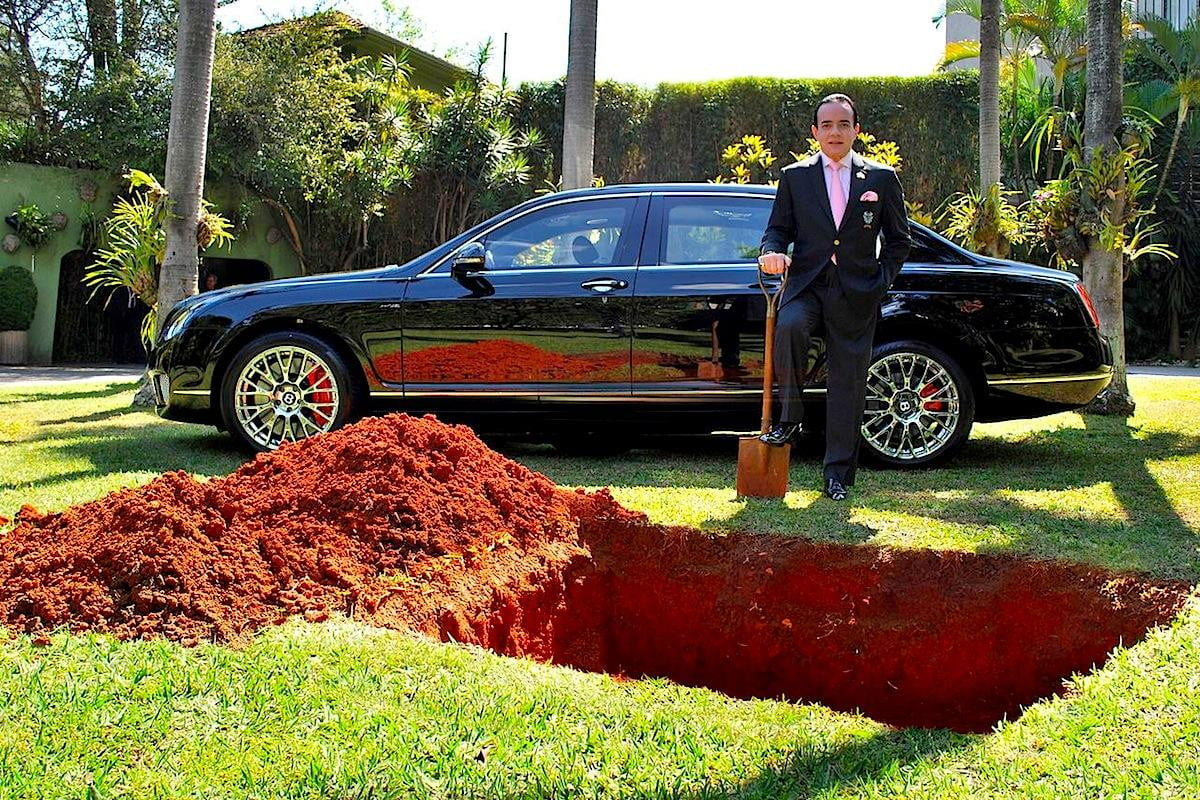 youre doing it wrong brazilian man buries bentley in backyard to save for afterlife brazillian burial