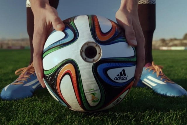 adidas puts hd action cams world cup soccer ball sends around brazucam