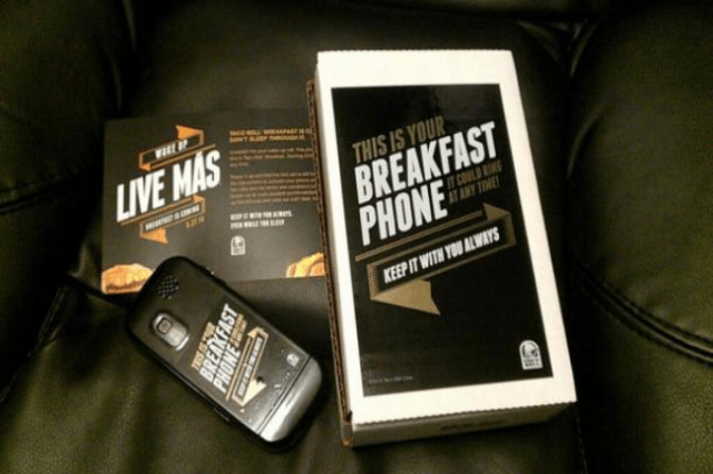 taco bell sends  people breakfast phones secret missions phone