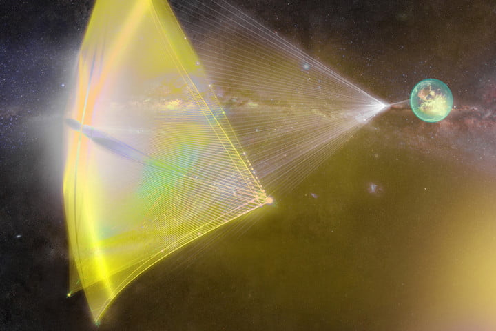 Breakthrough starshot illustration