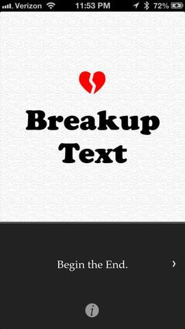 breakuptext screenshot