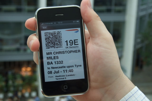 boarding pass contains sensitive information british airways mobile