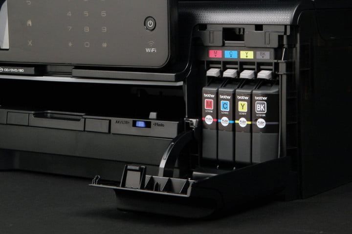 brother mfc j  dw review ink cartridges