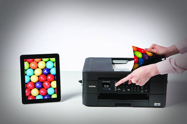 bother j  dw all in one printer deal brother wireless inkjet color with auto document feeder