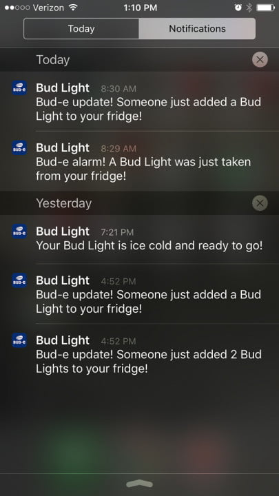 bud light introduces its e smart fridge