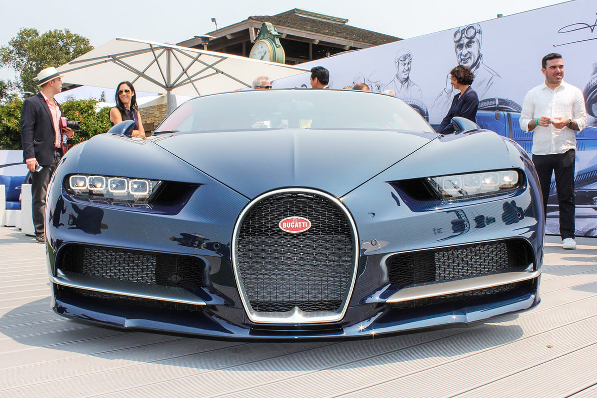 monterey car week pebble beach concours delegance  bugatti chiron v