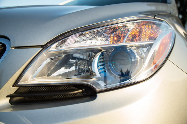 buick encore review headlight