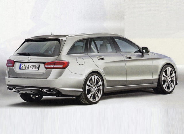 mercedes benz c class wagon leaked photo