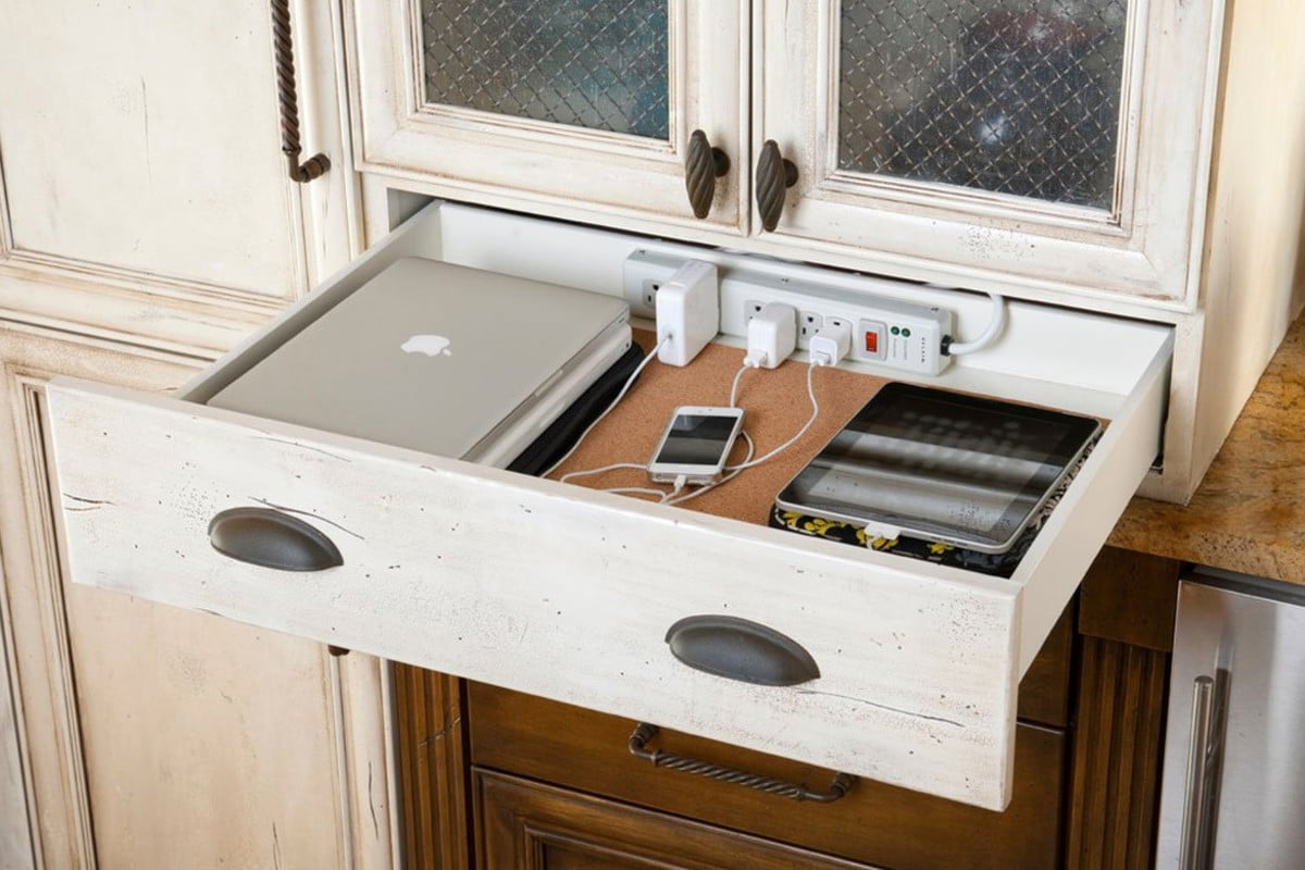 how to hide wires tech smart apartment cable drawer