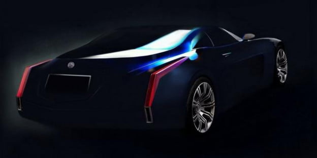 2013 Cadillac Glamour concept leaked image rear three-quarter view