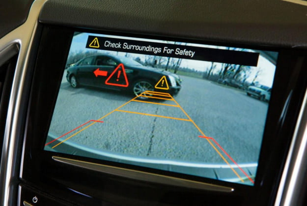 Cadillac safety alert screen