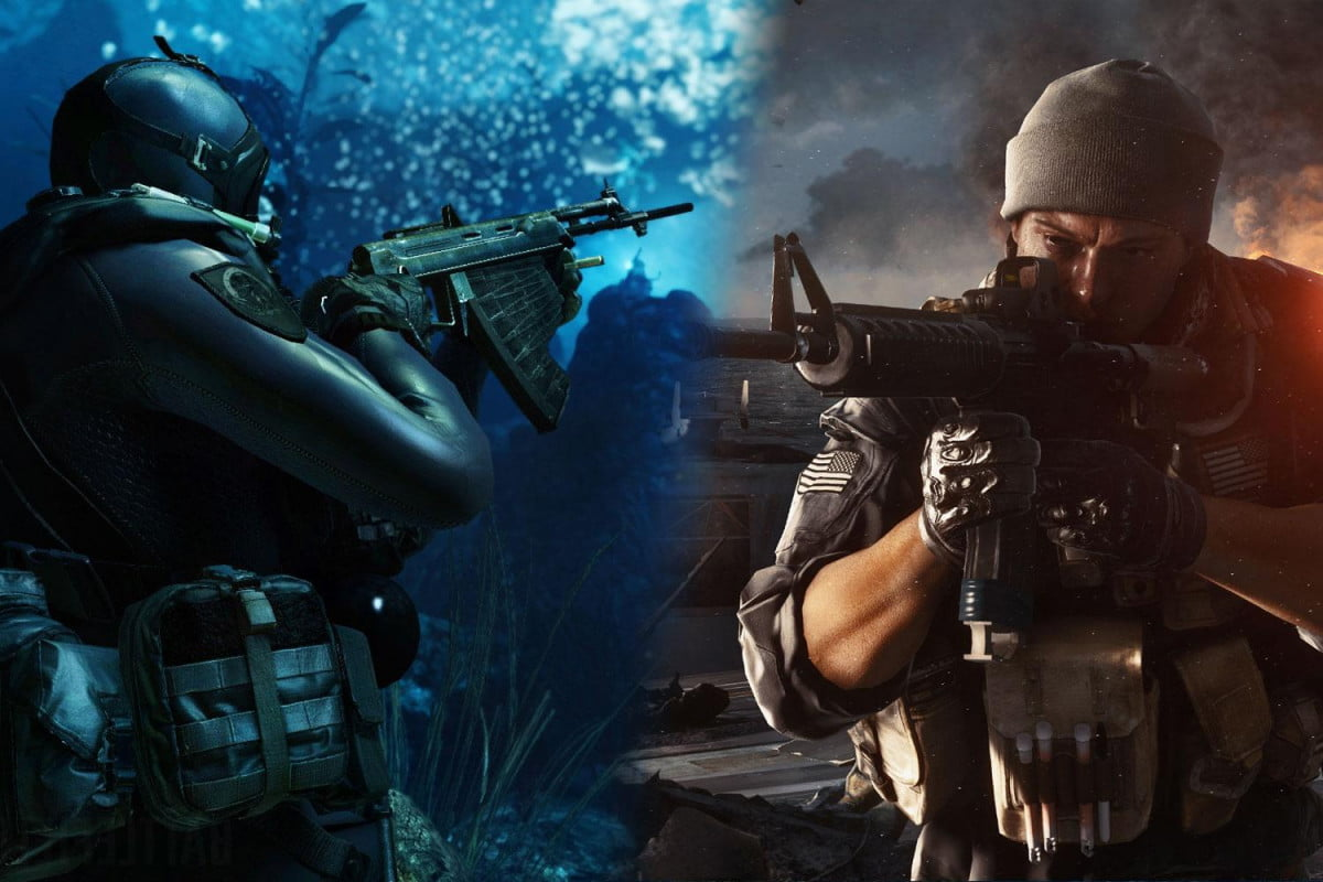 battlefield  and call of duty ghosts duel with competing story trailers
